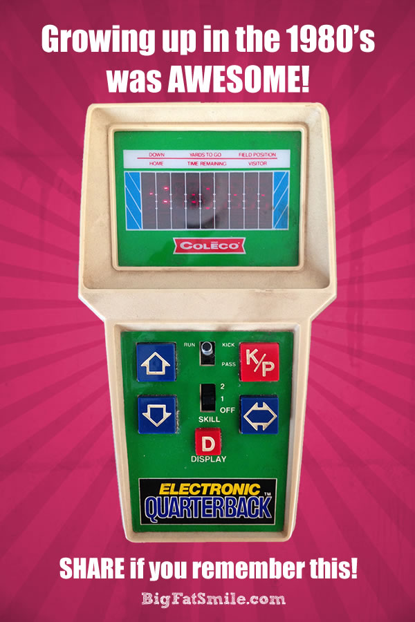 Growing up in the 1980's was AWESOME. Share if you remember Coleco's Electronic Quarterback. photo