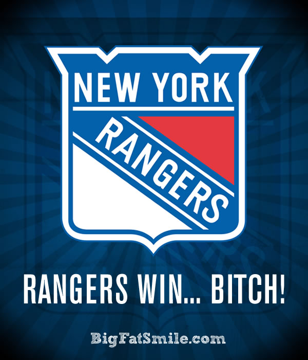 New York RANGERS Win... Bitch! photo