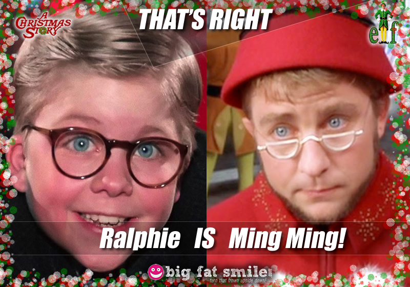 Holiday : Christmas - Ralphie from A Christmas Story if Ming Ming from Elf photo
